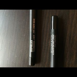Mac and Smashbox eyeliner set.